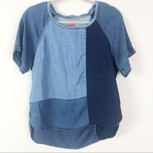 Chelsea & Violet | Chambray Patchwork Top